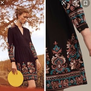 Anthropologie Floreat Embroidered Avery Dress